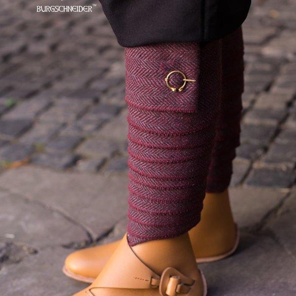 Burgschneider Leg wrappings Asgar, burgundy grey