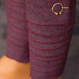 Leg wrappings Asgar, burgundy grey