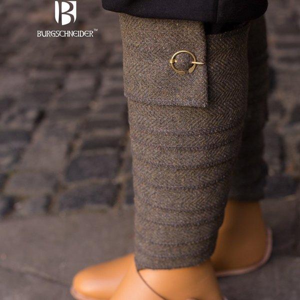 Burgschneider Leg wrappings Asgar, olive grey