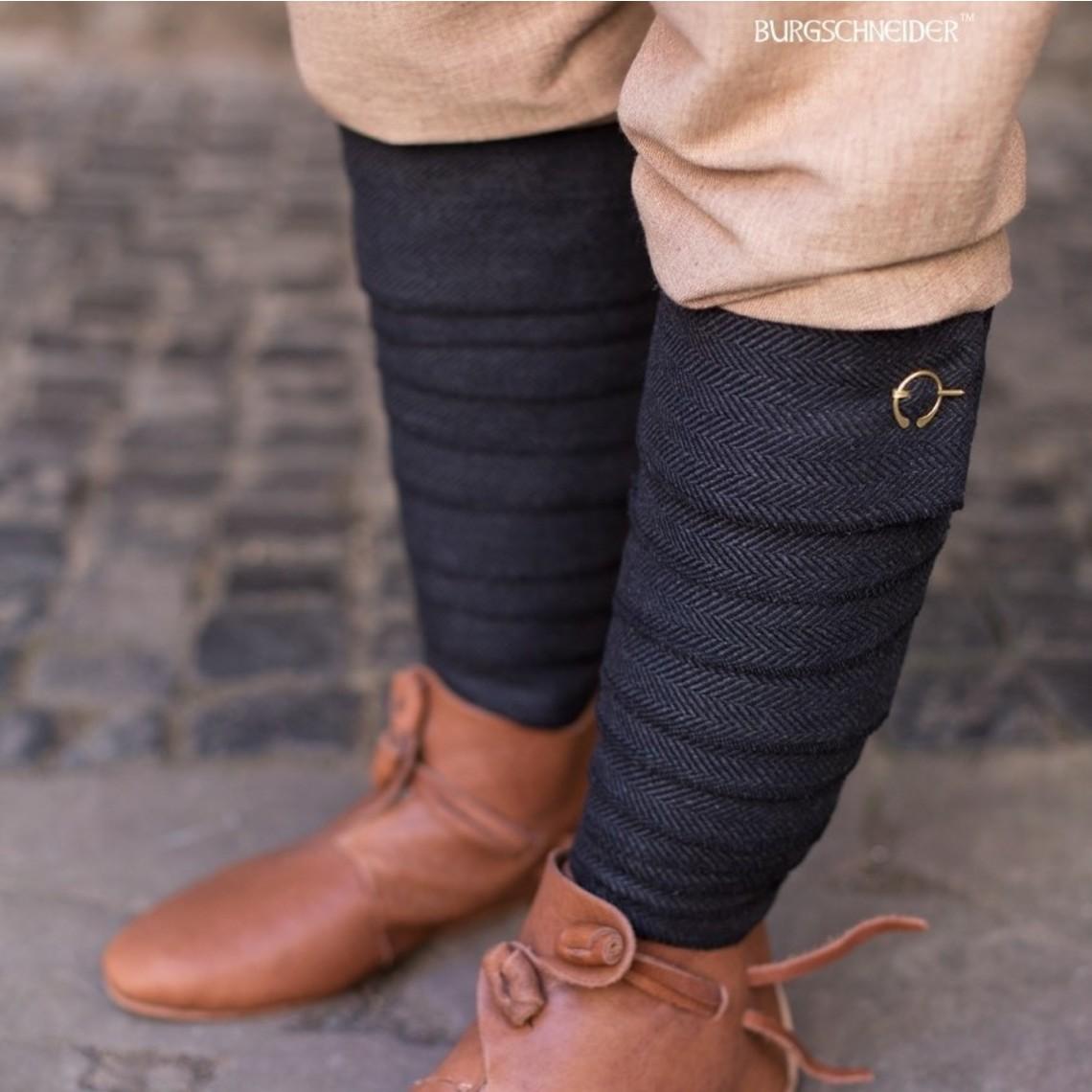 Burgschneider Leg wrappings Asgar, black/grey