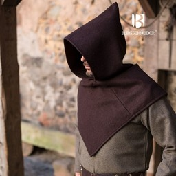 Chaperon Skjoldehamm, wool, brown