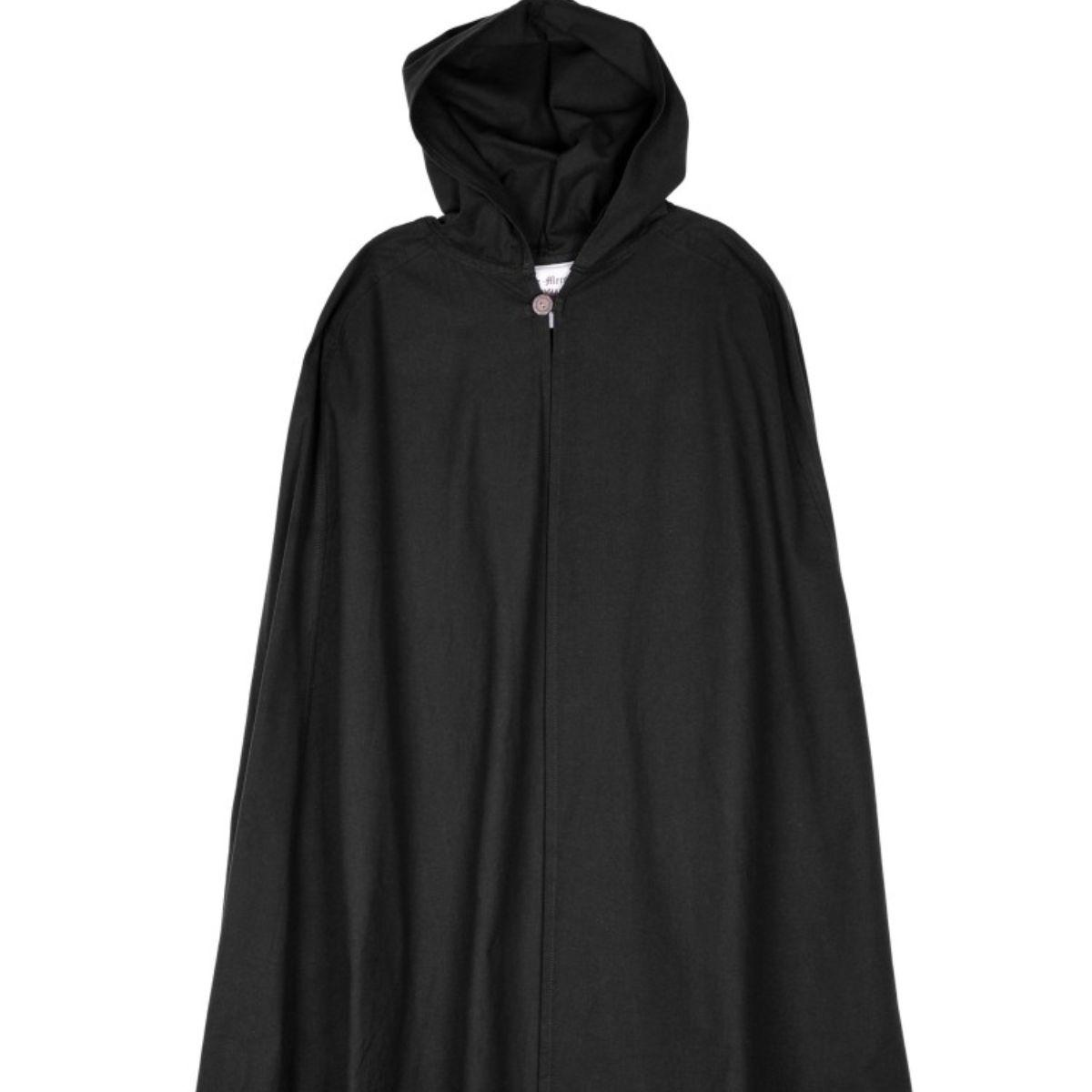 Katoenen mantel Ellyn, zwart