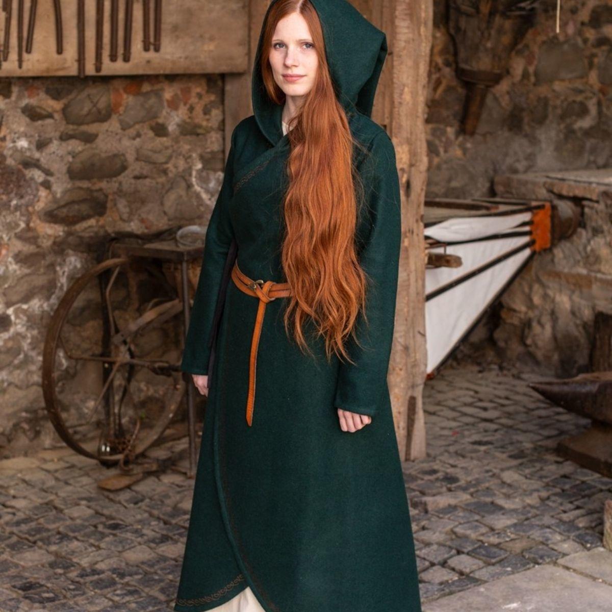Umhang Enya Wolle, grün