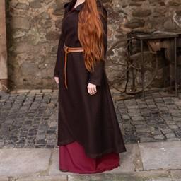 wełna płaszcz Enya brązowy