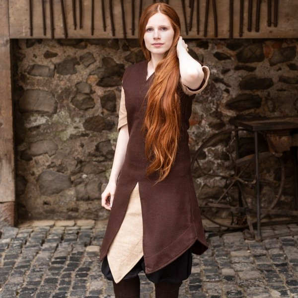 Burgschneider Tunic Meril, wool, brown