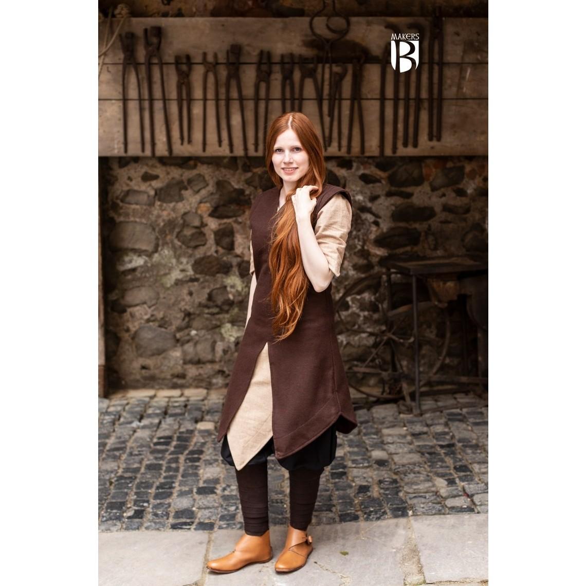 Burgschneider Túnica Meril, lana, marrón.