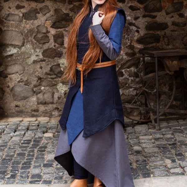 Burgschneider Tunic Meril, wool, blue