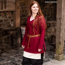 Tuniek schildmaagd Hyria wol, rood