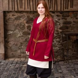 Tunika Sköld-jungfru Hyria ull, rött
