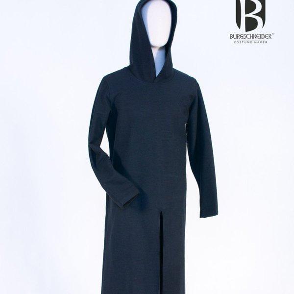 hot sale online 00502 0d0b5 Burgschneider Tunica medievale con cappuccio Renaud, nera