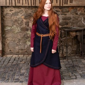 Burgschneider Robe portefeuille en laine Myrana, bleu
