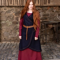 Wool wrap dress Myrana, blue