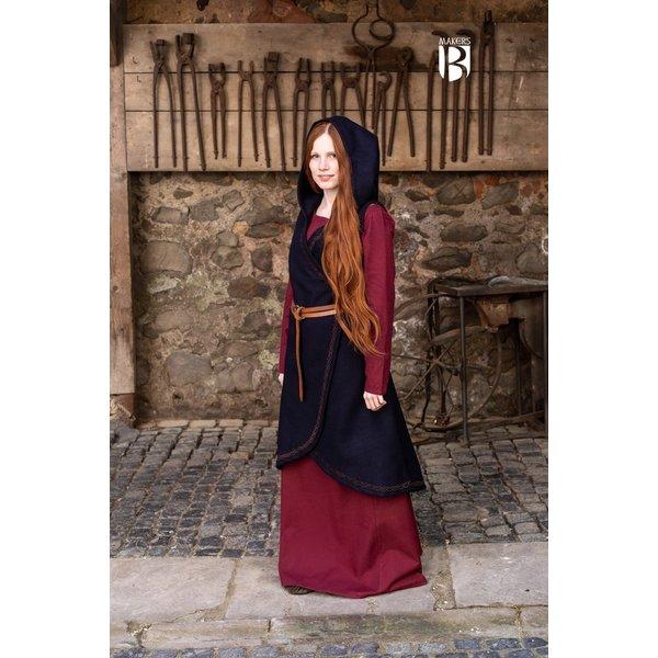 Burgschneider Wool wrap dress Myrana, blue