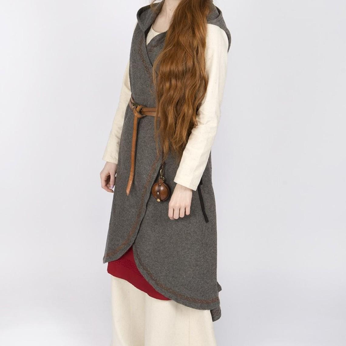 Burgschneider Robe cache-coeur en laine Myrana, gris foncé