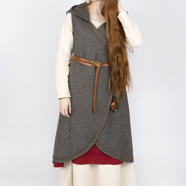 Burgschneider Wool wrap dress Myrana, dark grey S-M special offer!