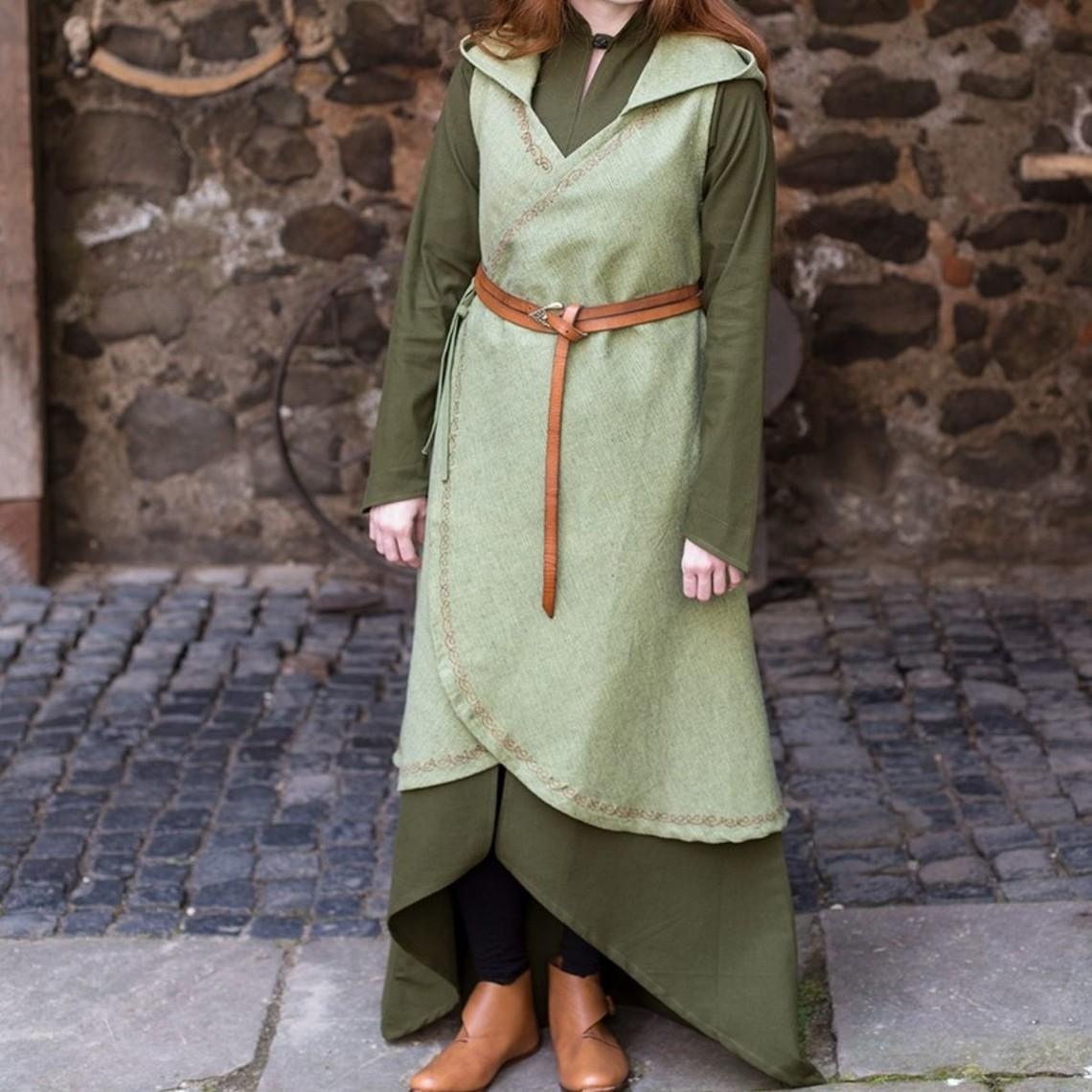 Burgschneider Vestido drapeado dala verde linden