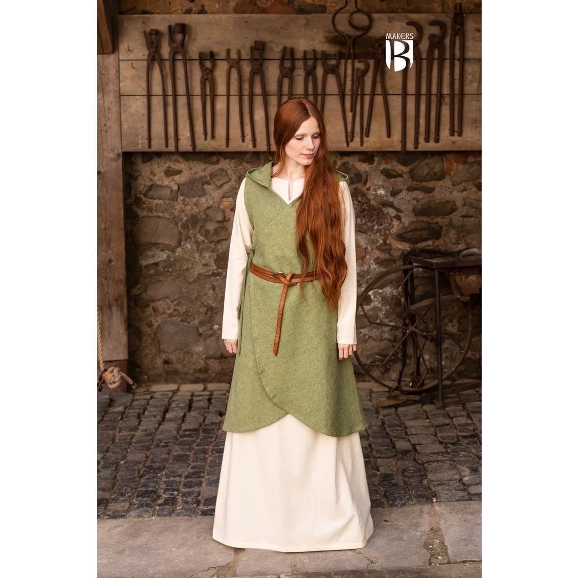Burgschneider Vestido cruzado runa verde linden