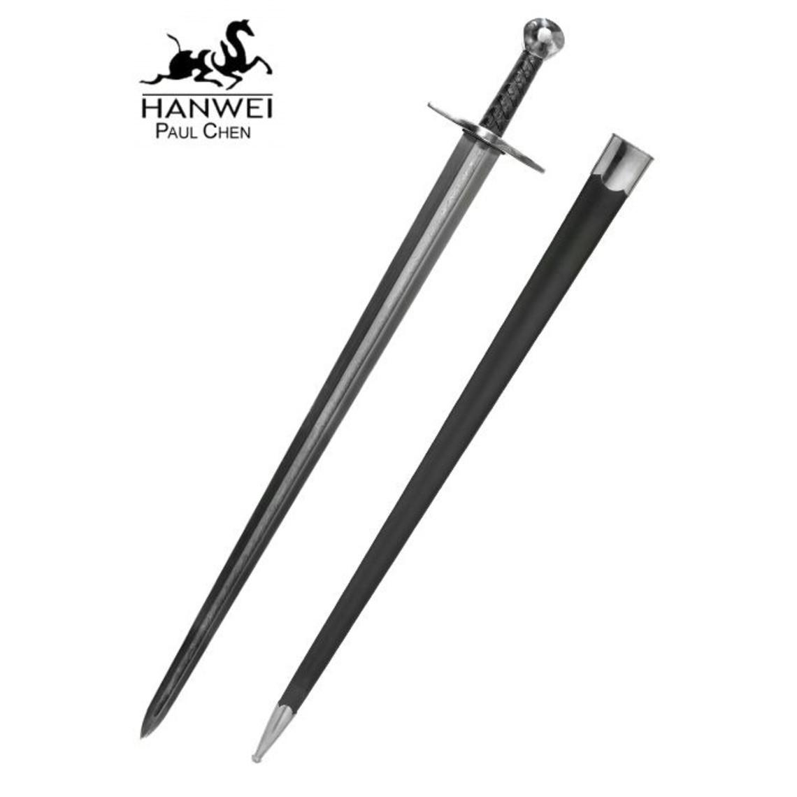 CAS Hanwei Sir William Marshall Espada con hoja de acero de Damasco