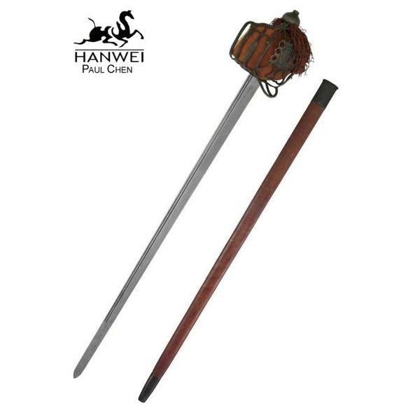 CAS Hanwei Epée écossaise Backsword à garde en panier, version patinée