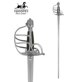 CAS Hanwei Epée à garde en panier, prête au combat