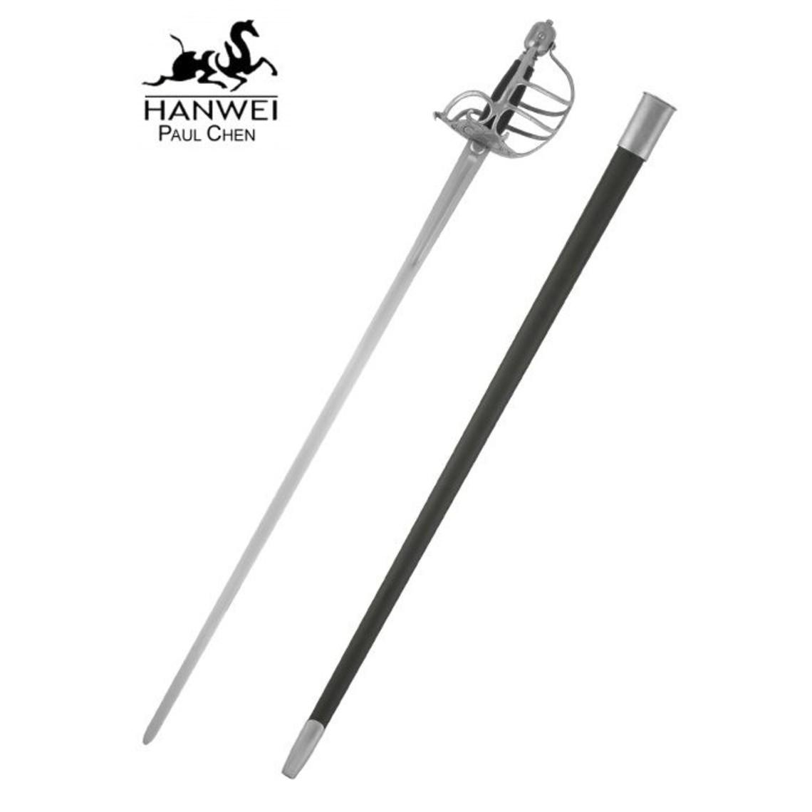 Hanwei Epée à garde en panier, prête au combat