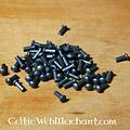 Steel rivets 4 mm, 12 mm long, set of 50