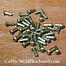 Brass rivets 4 mm, 12 mm long, set of 50