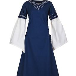 Gotycka sukienka Fiona, niebiesko-naturalne