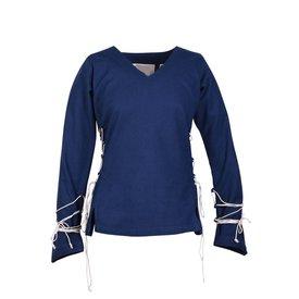 Medieval blouse Aubrey, blue