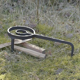 Medieval cooking stand tripod, hand-forged