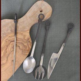 Ulfberth Cubiertos medievales de acero inoxidable.