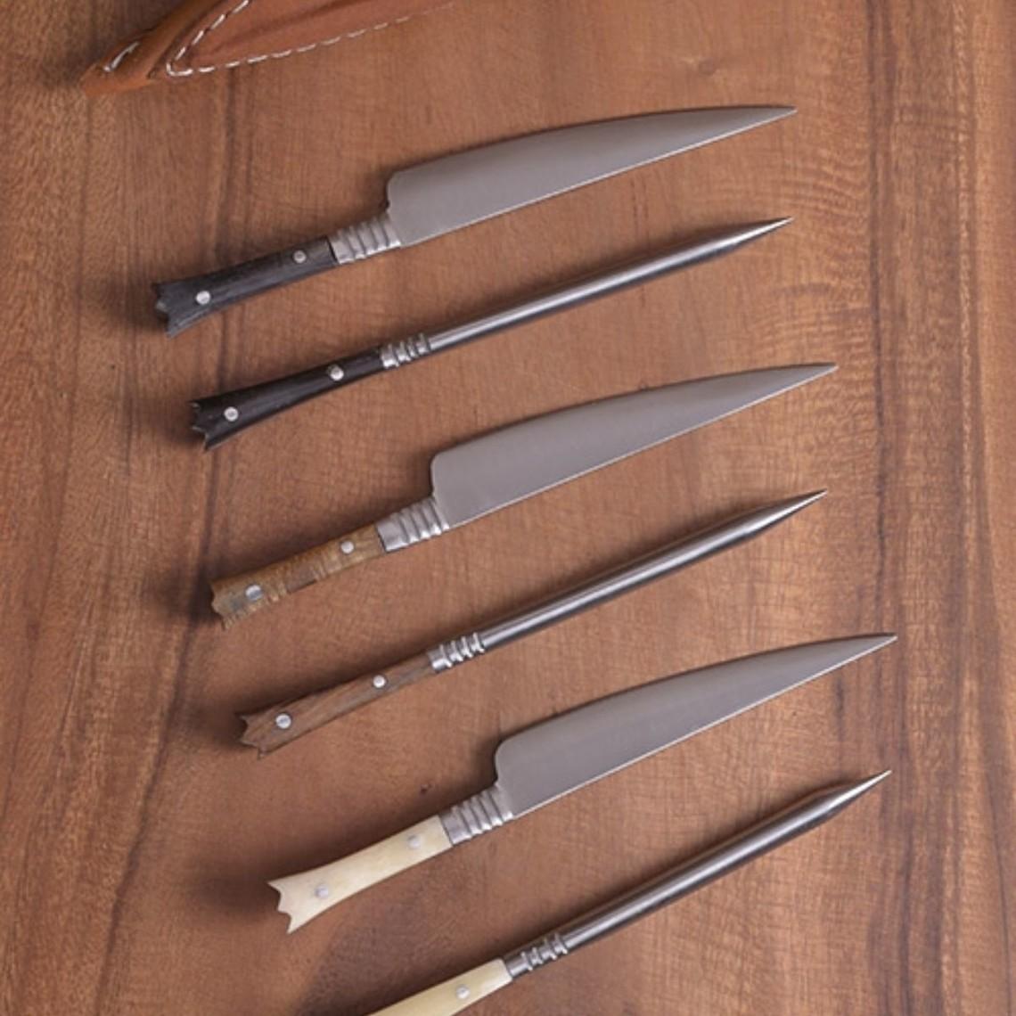 Cuchillería del siglo 14 set cuchillo y comer punzón