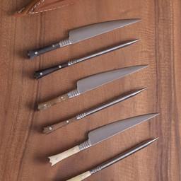 14 wieku zestaw sztućców nóż i jedzenia szydło