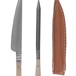 14th century cutlery set knife & eating awl