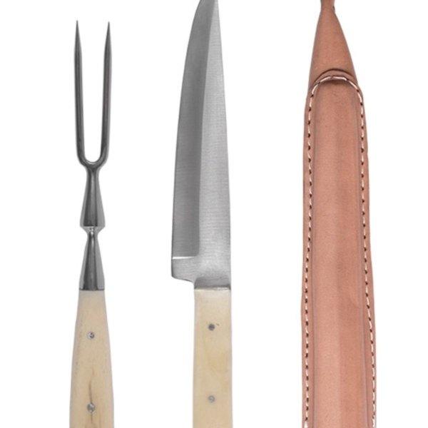 15de-16de eeuwse bestekset mes en vork