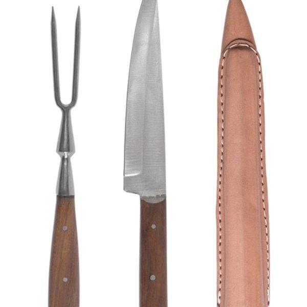 Zestaw sztućców z XV i XVI wieku - nóż i widelec