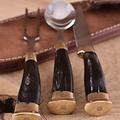 Servizio di posate per corno con astuccio, acciaio inossidabile