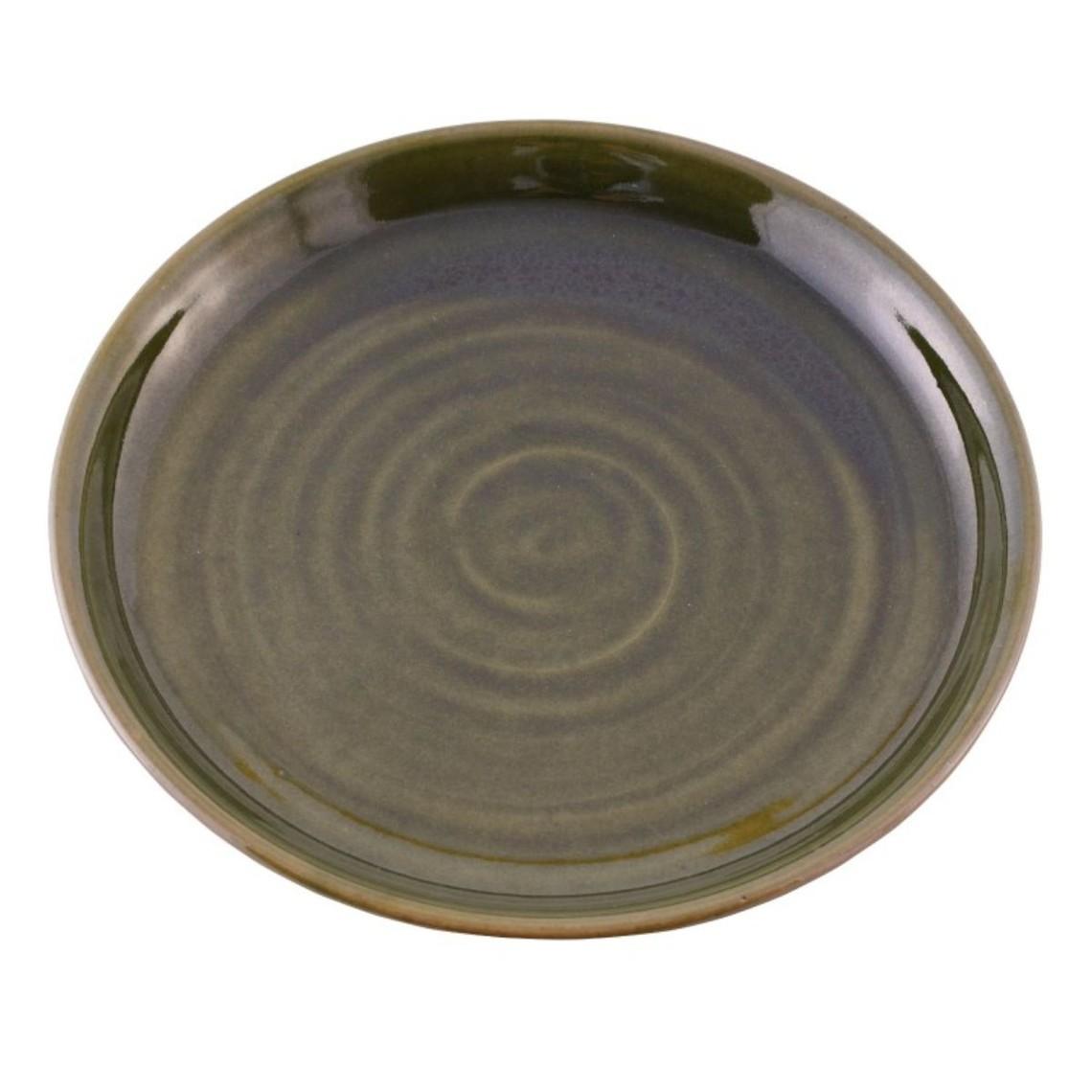 15th century plate, green