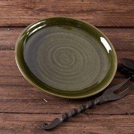 Assiette du 15ème siècle, verte
