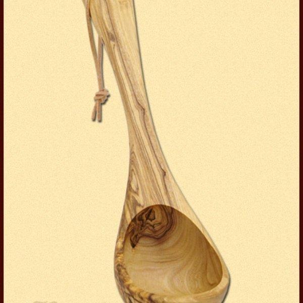 Concha de madeira verde-oliva, 26 cm
