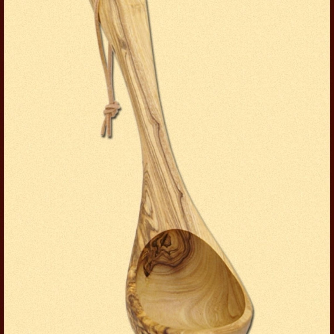 Mestolo di legno d'ulivo, 26 cm