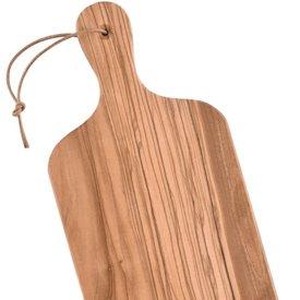 Deska do krojenia z drewna oliwnego, 30 x 14 x 1,3 cm