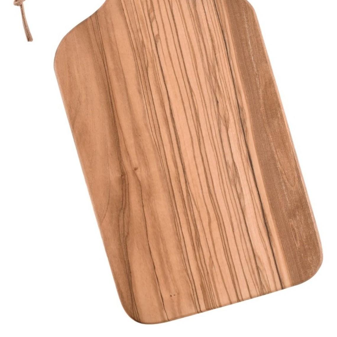 Tabla de cortar de madera de olivo, 30 x 14 x 1,3 cm.