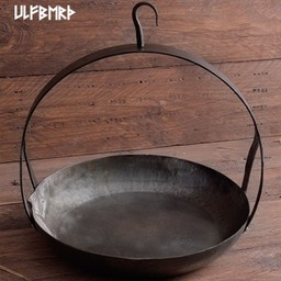 Medieval pan with hook and handle