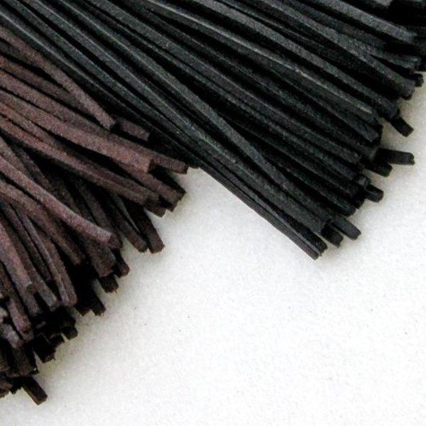 Lacet en cuir, lot de 10, noir
