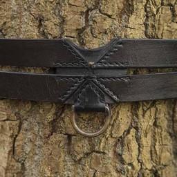 Twin X-belt, black