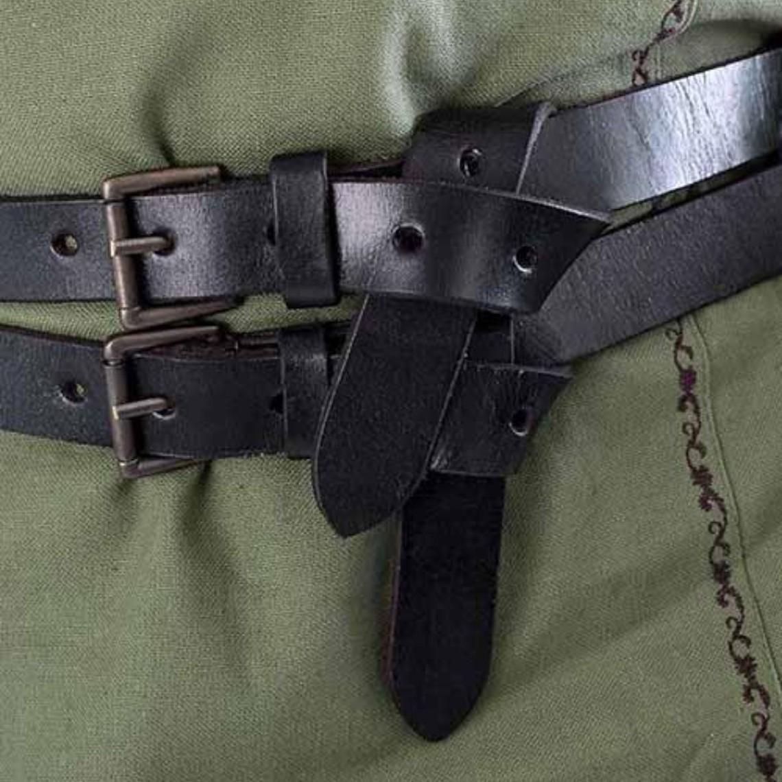 Epic Armoury Cinturón X doble, negro