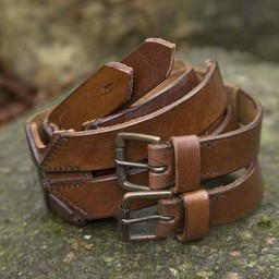 Cinturón X doble, marrón