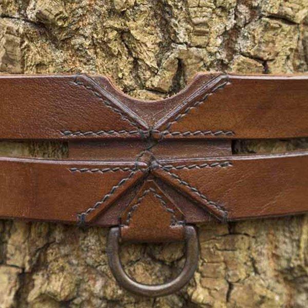Epic Armoury Twin X-bælte, brun