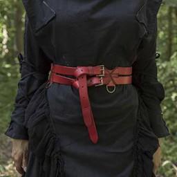 Cinturón X doble, rojo